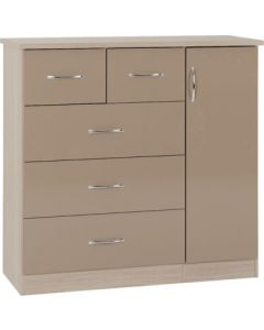 Nevada 5 Drawer Low Wardrobe Oyster