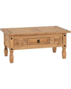 Corona 1 Drawer Coffee Table Pine