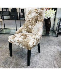 Venice Premium Crushed Velvet Mink Dining Chair