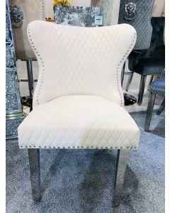 Valentino Mink Velvet Dining Chair