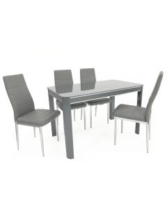 Morano Dining Set Grey (4 Grey Maxi Chairs)