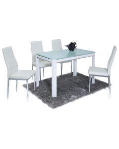 Morano Dining Set White (4 Maxi Chairs)