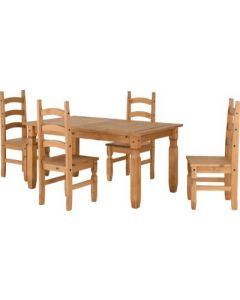 Corona 5' Dining Set Pine