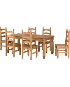 Corona 6' Dining Set Pine