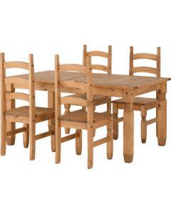 Corona Extending Dining Set (4 Chairs)