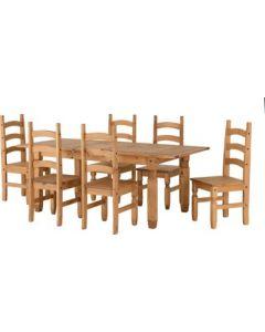 Corona Extending Dining Set(6 Chairs)