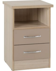 Nevada 2 Drawer Bedside Oyster