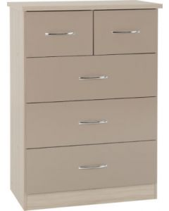 Nevada 3+2 Drawer Chest Oyster