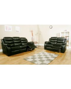 VISTA RECLINER SOFA SET - BLACK