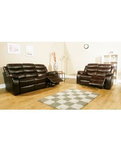 VISTA RECLINER SOFA SET - Brown