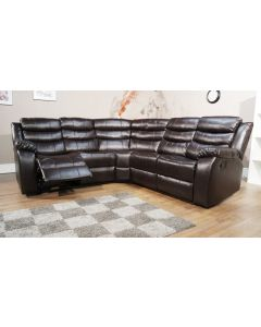 VISTA CORNER RECLINER SOFA SET - BLACK