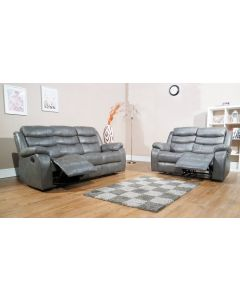 VISTA RECLINER SOFA SET - GREY