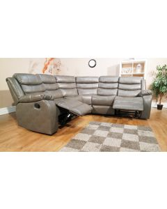 VISTA CORNER RECLINER SOFA SET - GREY